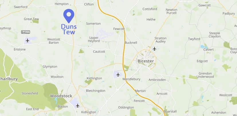 Duns Tew location map