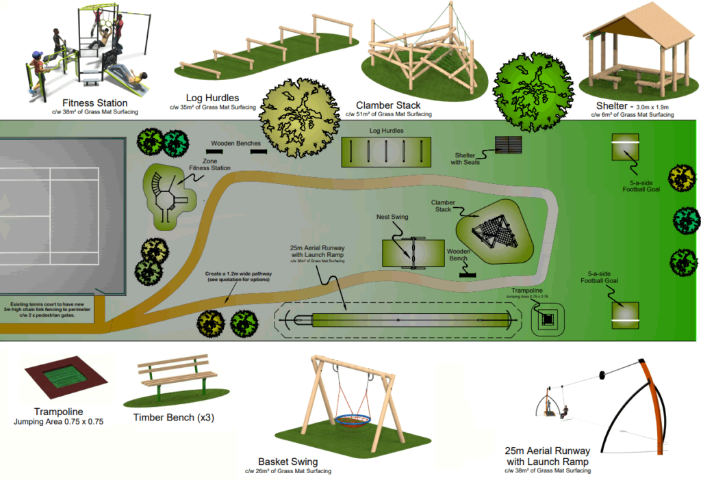Duns Tew community play park fully funded