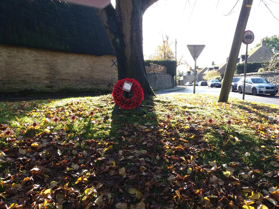 Duns Tew commemorates  Armistice Day