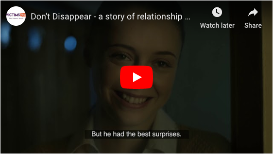 Don't Disappear - a story of relationship abuse