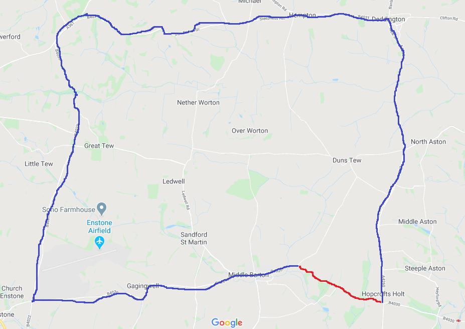 Temporary road Closure - Bicester, B4030 Steeple Barton