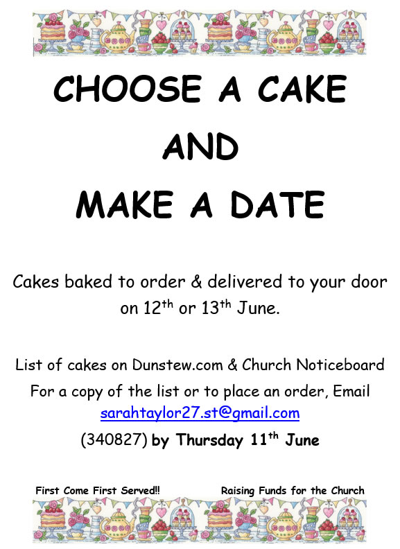 Cakes baked to order